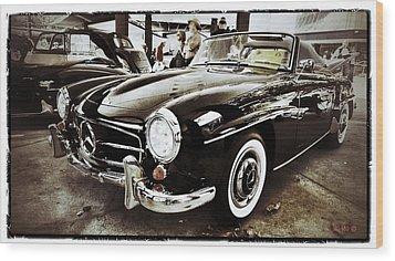 Mercedes 190 Sl Wood Print