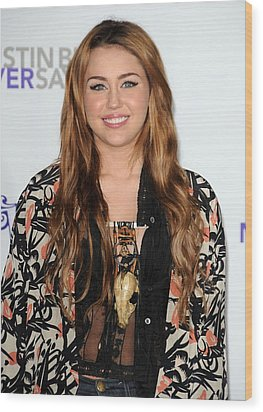 Miley Cyrus At Arrivals For Justin Wood Print by Everett
