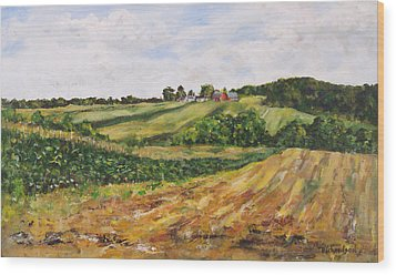 Wood Print featuring the painting Milligan's Farm by George Richardson