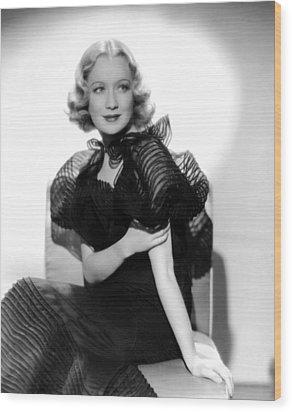 Miriam Hopkins, Ca. 1930s Wood Print by Everett