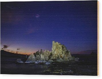 Mono Lake Big Dipper Sky Wood Print by La Rae  Roberts