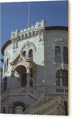 Wood Print featuring the photograph Monte Carlo Courthouse by Steven Richman
