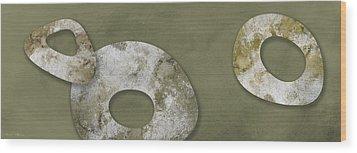 Moon Stones Wood Print by Nomi Elboim