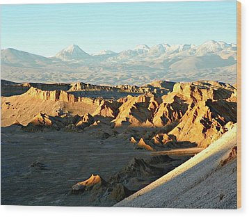 Moon Valley Atacama Desert  Wood Print