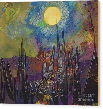 Moonlight Magic Wood Print
