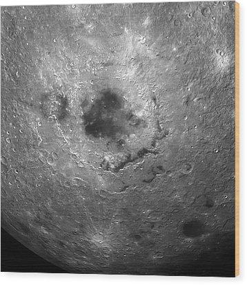 Moon's Surface Wood Print by Detlev Van Ravenswaay
