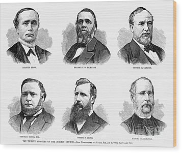 Mormon Apostles, 1877 Wood Print by Granger