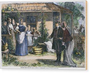 Mormon Wives, 1875 Wood Print by Granger