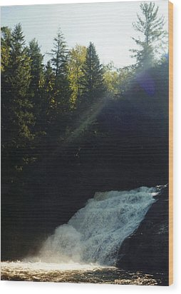 Wood Print featuring the photograph Morning Waterfall by Stacy C Bottoms