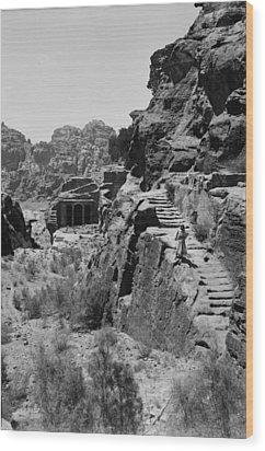 Mount Sinai, Trans-jordan. Petra Wood Print by Everett