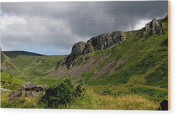 Wood Print featuring the photograph Mountains by Barbara Walsh