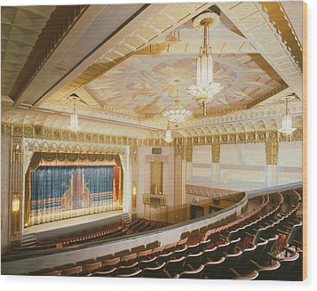 Movie Theaters, The Washoe Theater Wood Print by Everett