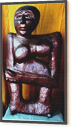 My Old Model Wood Print by Anand Swaroop Manchiraju