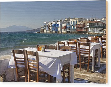 Mykonos Wood Print by Joana Kruse