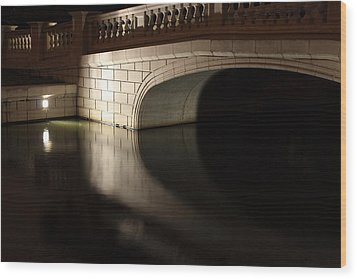Wood Print featuring the photograph Mystery Bridge by Scott Rackers