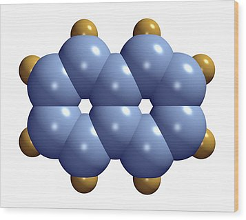 Naphthalene Molecule Wood Print by Dr Mark J. Winter