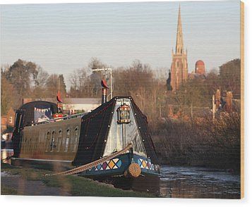 Narrow Boat Wood Print