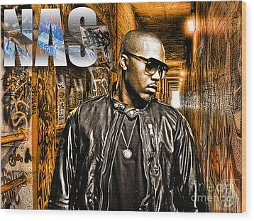 Nas Wood Print by The DigArtisT