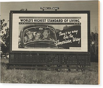 National Association Of Manufacturers Wood Print by Everett
