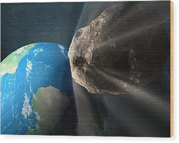 Near-earth Asteroid, Artwork Wood Print by Henning Dalhoff