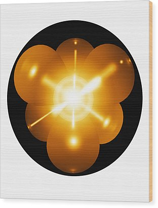 Neon Atom, Artwork Wood Print by Mehau Kulyk