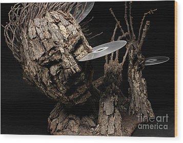 Net Damage Wood Print by Adam Long