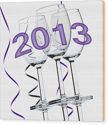 New Year 2013 Wood Print by Blink Images