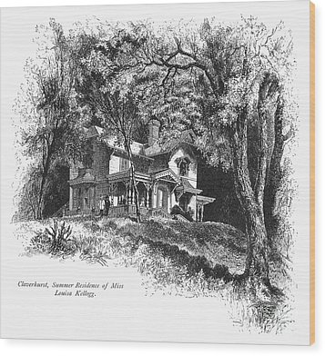 New York State: House Wood Print by Granger