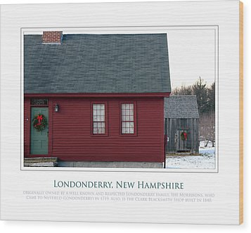 Nh Old Homes Wood Print by Jim McDonald Photography