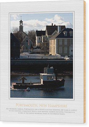 Nh Working Harbor Wood Print by Jim McDonald Photography