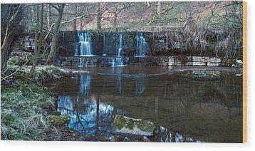 Nidd Falls Wood Print