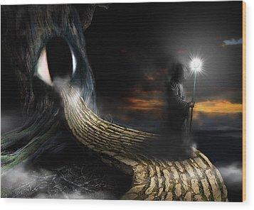 Night Guard Wood Print by Mariusz Zawadzki