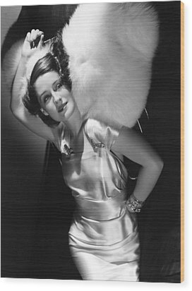 Norma Shearer Wood Print by Everett