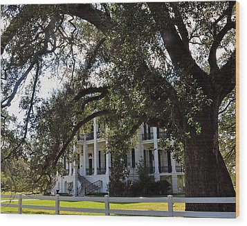 Wood Print featuring the photograph Nottaway Plantation by Helen Haw