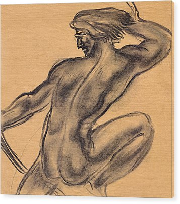 Nude Men Wood Print by Odon Czintos