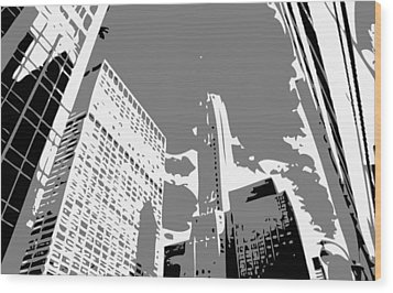 Nyc Looking Up Bw3 Wood Print by Scott Kelley