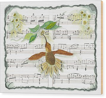 1 Of 2 - Natures Symphony-the Conductor Wood Print
