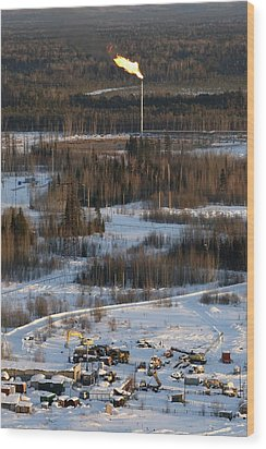 Oil Field Wood Print by Ria Novosti