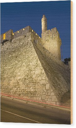 Old City, Tower Of David Museum Wood Print by Richard Nowitz