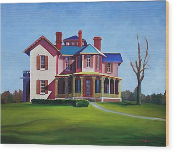 Old House Wood Print by Robert Henne
