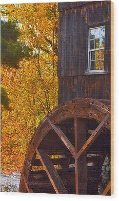 Old Mill Wood Print by Joann Vitali