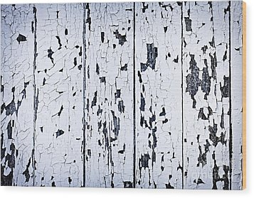 Old Painted Wood Abstract Wood Print by Elena Elisseeva