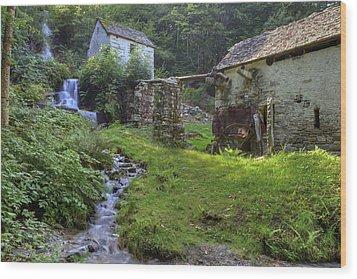 Old Watermill Wood Print by Joana Kruse
