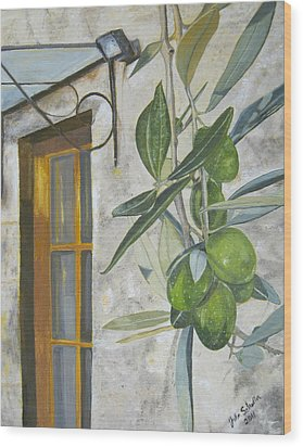 Olives In Tuscany Wood Print by John Schuller