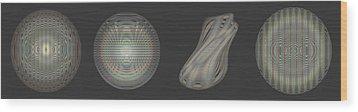 Ongrey 16 Wood Print by Li   van Saathoff