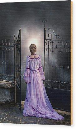 Open Gate Wood Print by Joana Kruse