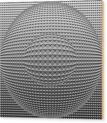 Optical Illusion Circle In Circle Wood Print by Sumit Mehndiratta