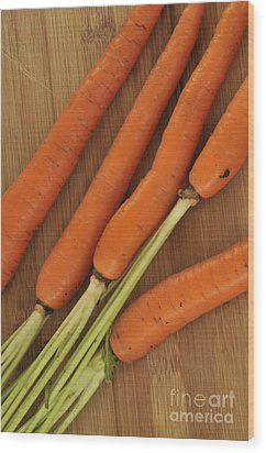 Orange Carrots Wood Print by Timothy OLeary