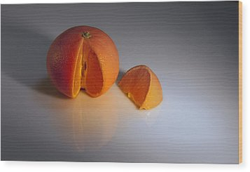 Orange Wood Print by Svetlana Sewell