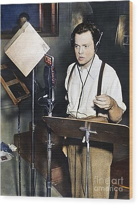 Orson Welles (1915-1985) Wood Print by Granger